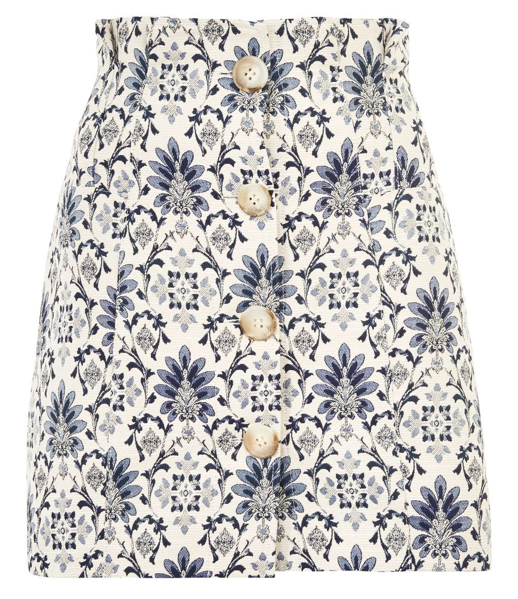 Porcelain Jacquard Mini Skirt